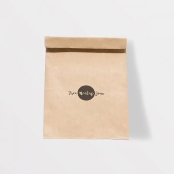 Free Brown Paper Burger Packaging Mockup