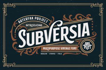 Free Font Subversia Typeface Version