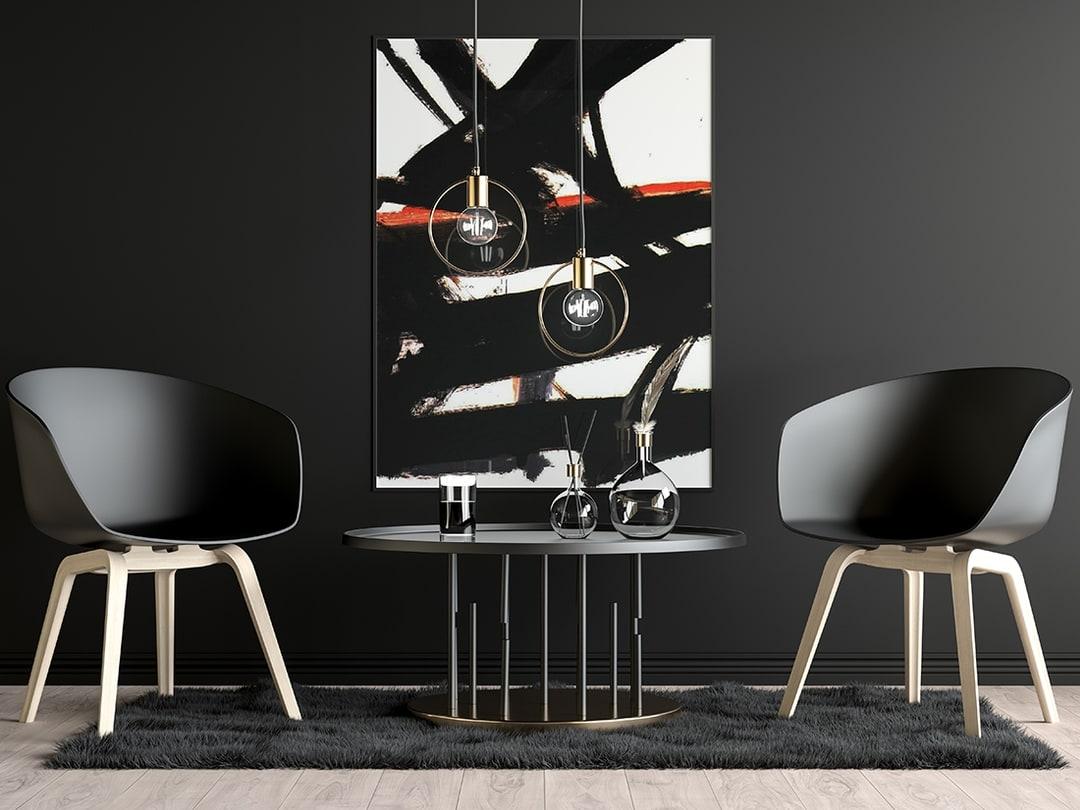 Free Modern Dark Poster Mockup.