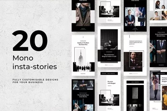 Free Mono Instagram Stories.
