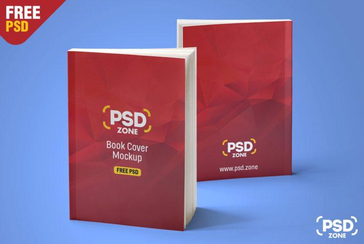 Free Realistic Book Mockup PSD.