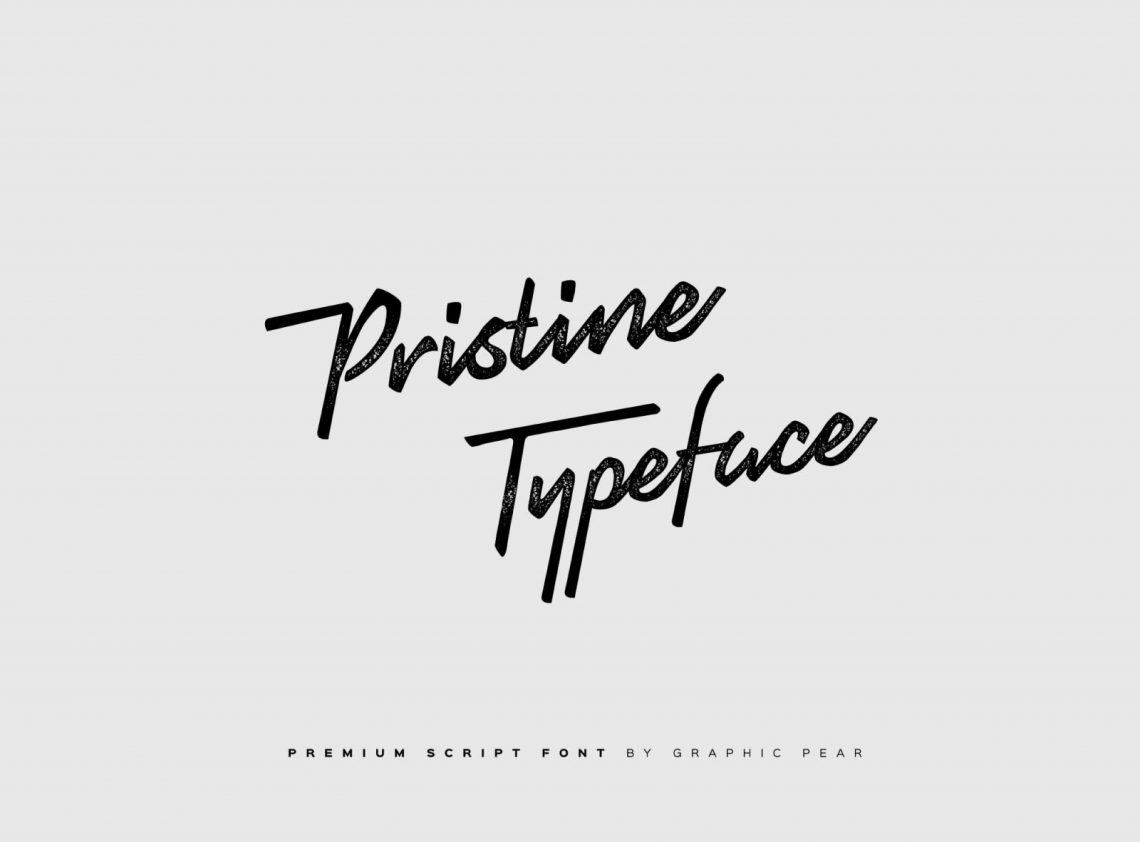 Free Pristine Script Typeface Font.