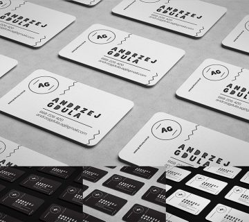 Free Rounded Business Card Mockup