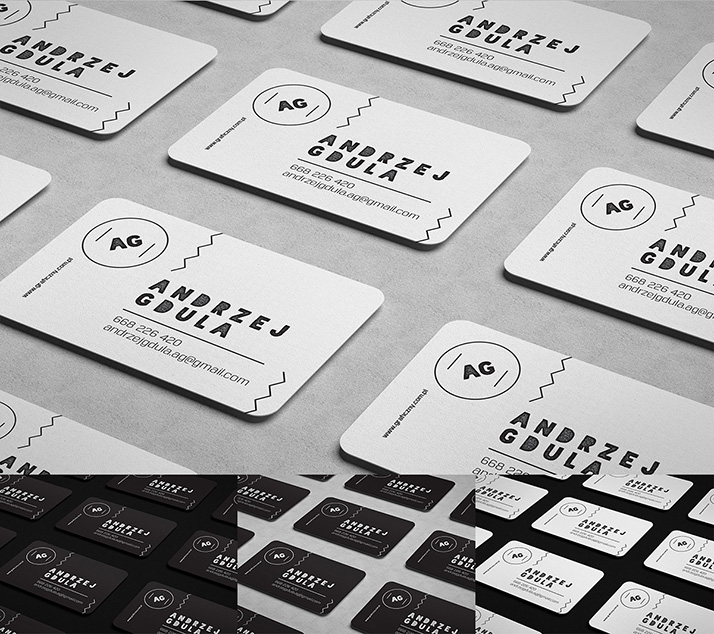 Free Rounded Business Card Mockup.