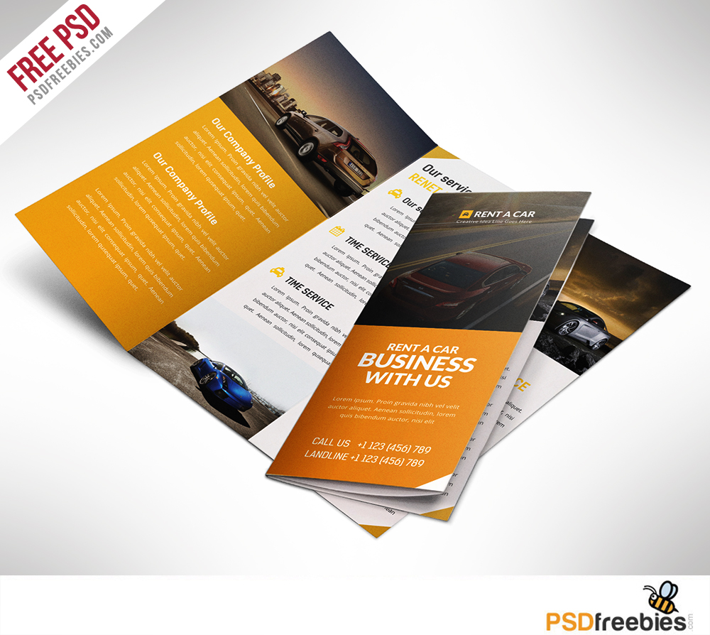 Car Dealer and Services Trifold Brochure – Free PSD