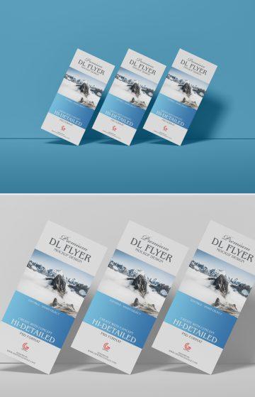 Free Brand Dl PSD Flyer Mockup Design 2019