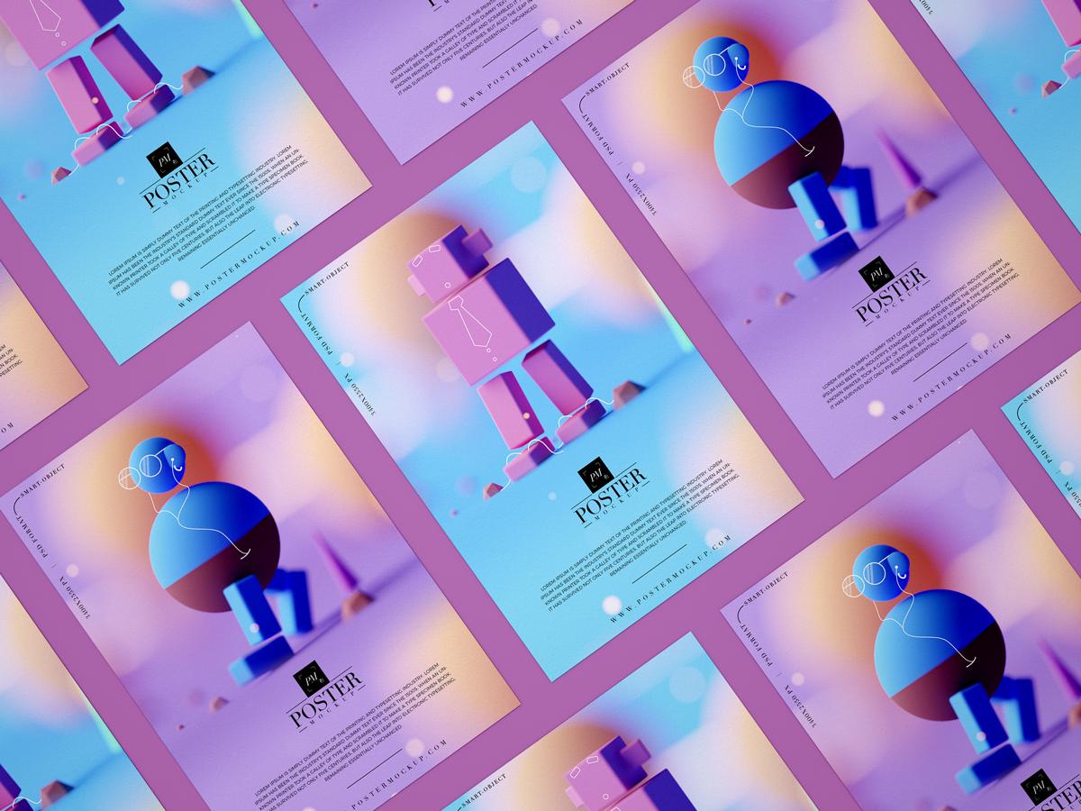 Free Branding PSD Poster Mockup Design For Designers