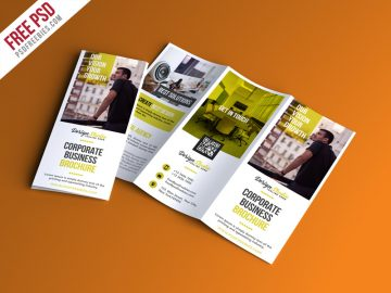 Free Professional Trifold Brochure PSD Template