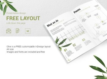 OLIVE - Free Presentation Design Layout