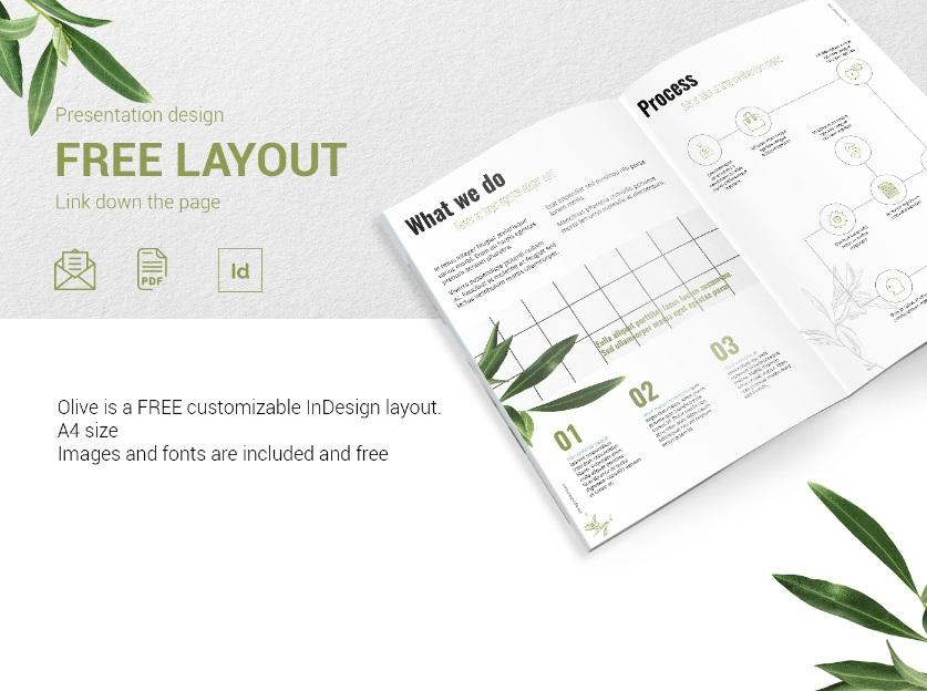 OLIVE - Free Presentation Design Layout.