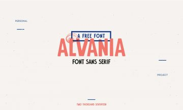 Alvania Free Typeface Font