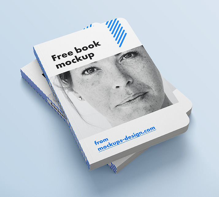 Free Book Rounded Corners Mockup
