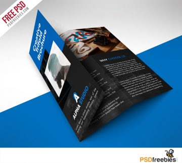 Creative Agency Trifold Brochure - Free PSD Template