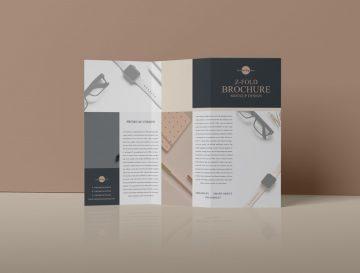 Free Z-Fold Brochure Mockup PSD Design 2019