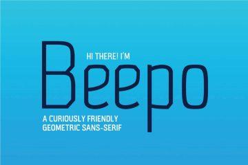 Free Beepo Geometric Sans Serif Font
