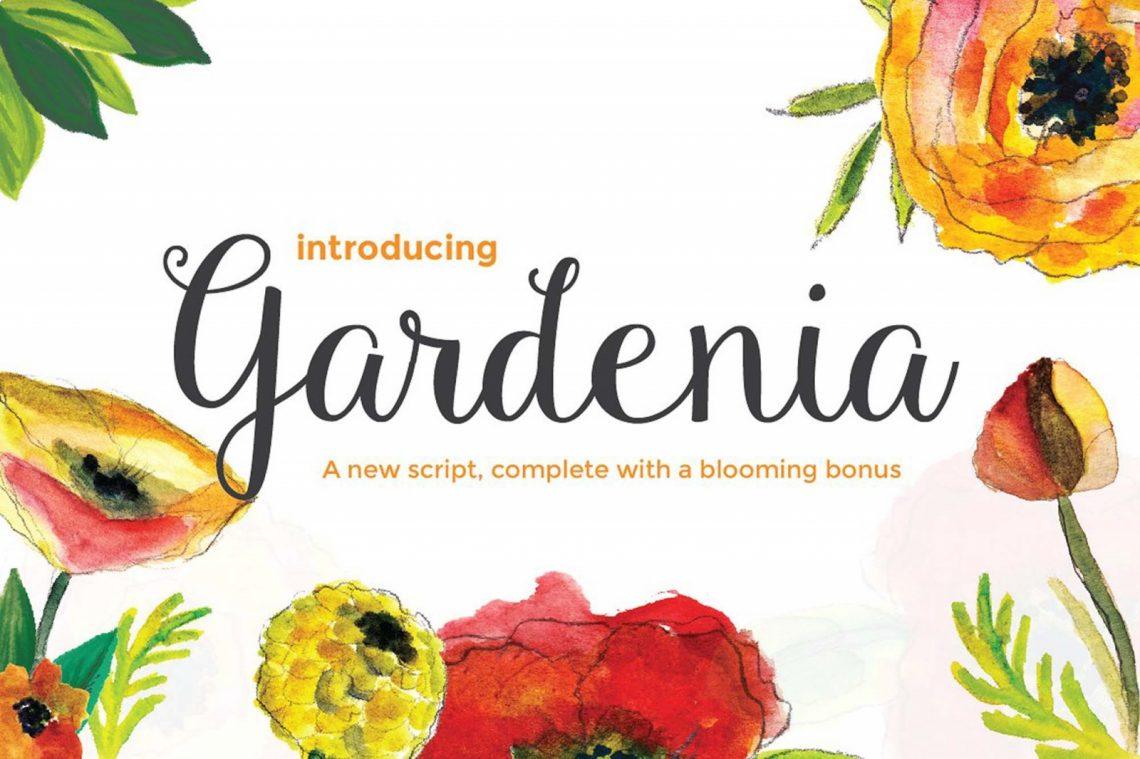 Free Gardenia Script Font.