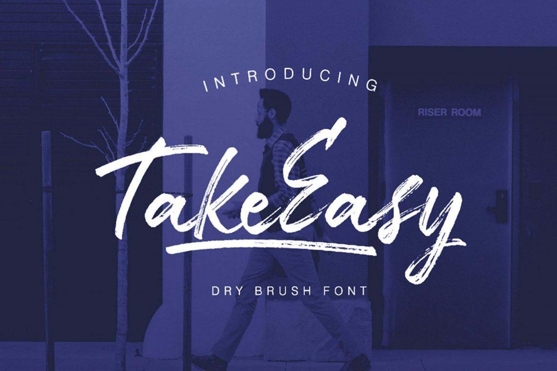 Free TakeEasy Brush Font.