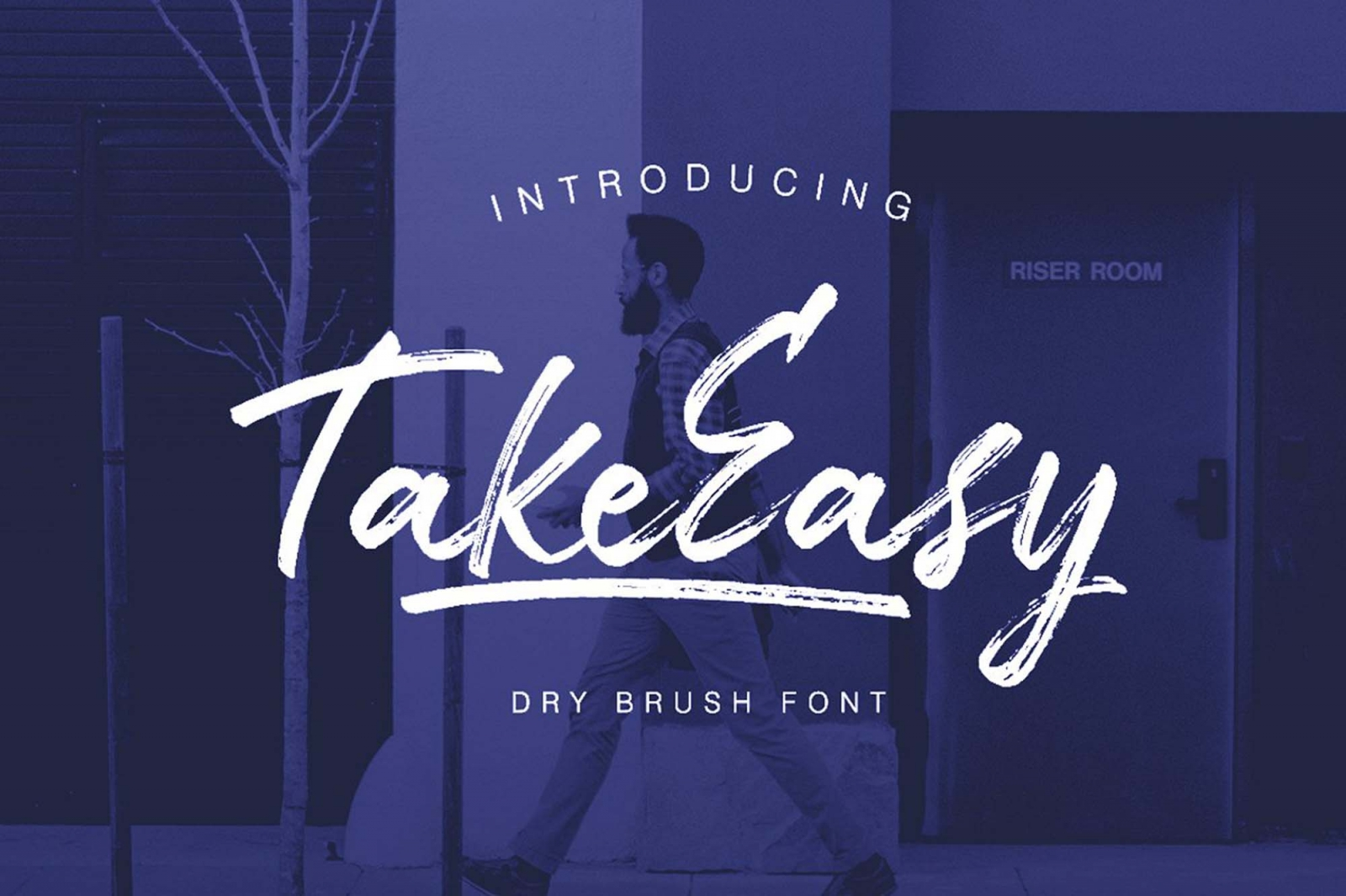 Free TakeEasy Brush Font