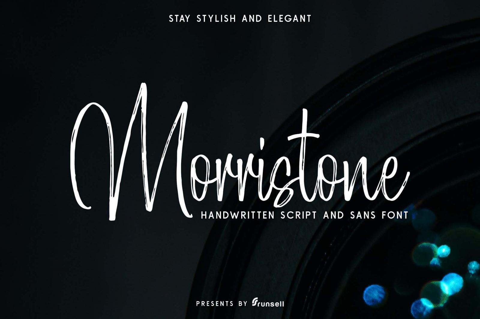 Free Mortistone Script Font.