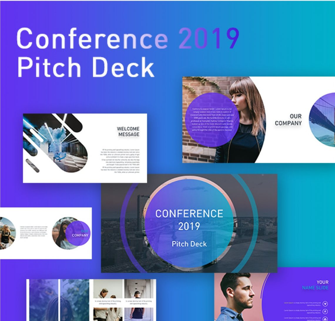 CONFERENCE - Free Powerpoint Pitch Deck Template For Free.