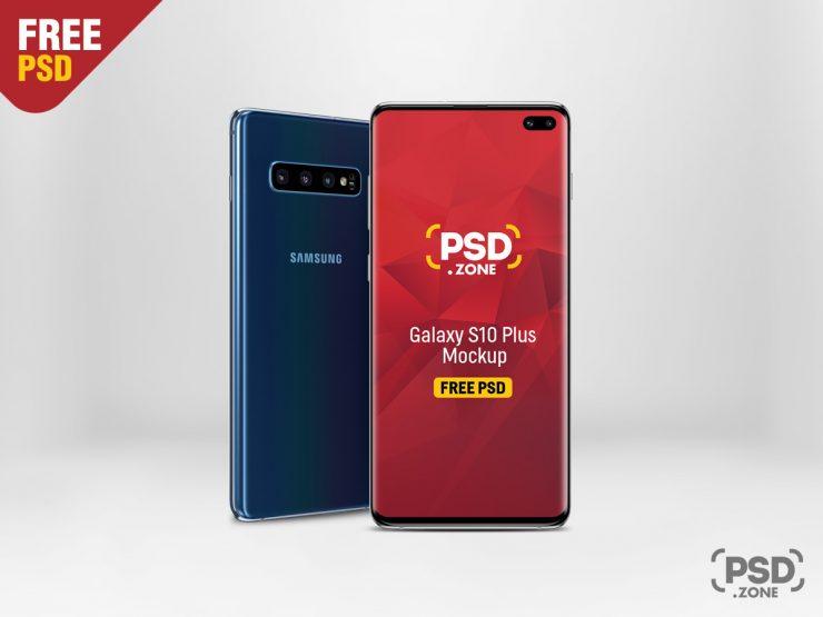 Free Galaxy S10 Plus Mockup PSD.