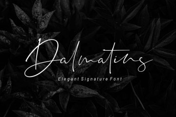 Free Dalmatins Signature Font