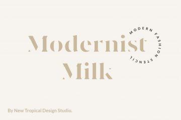 Modernist Milk - Free Font