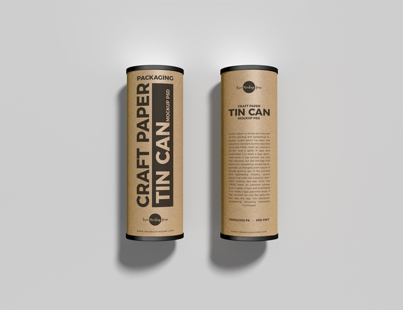 Free Craft Tubes Mockup For Packaging Presentation.