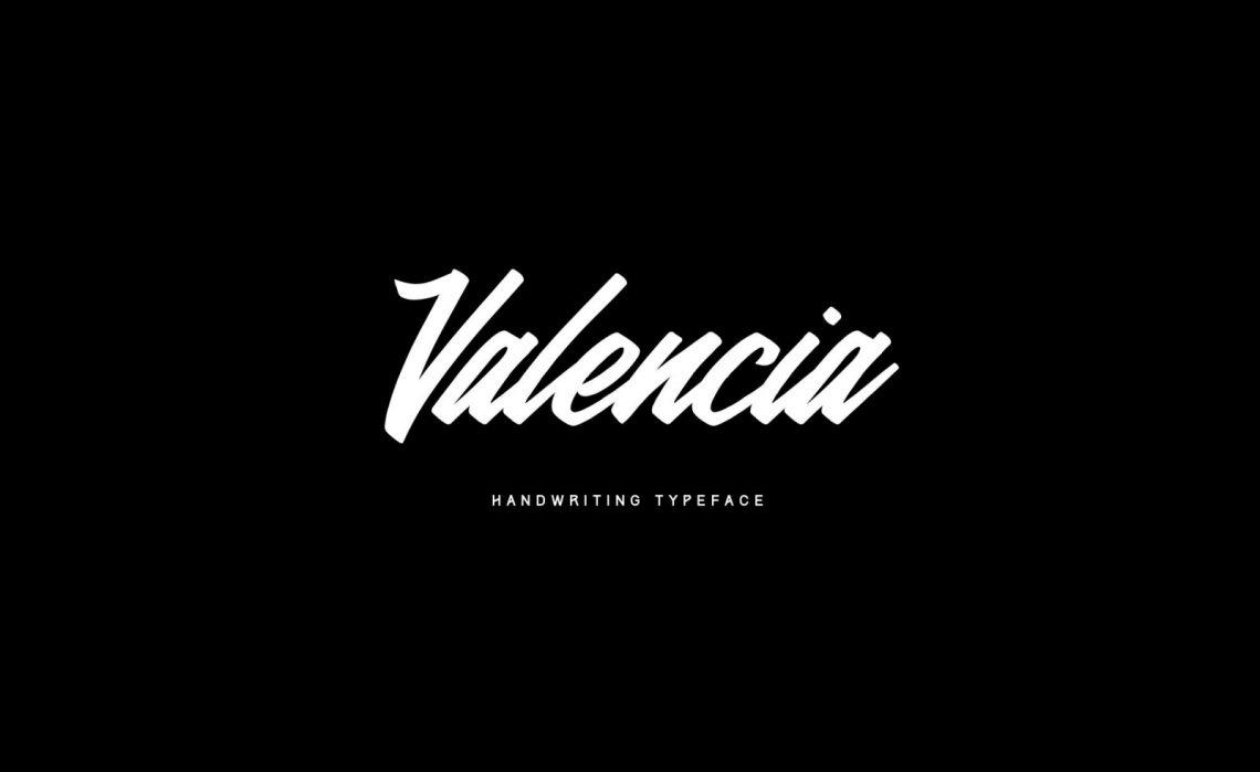Free Valencia Calligraphy Typeface V1.2.