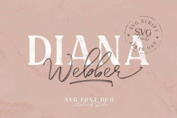 Free Diana Webber Font Duo (SVG)