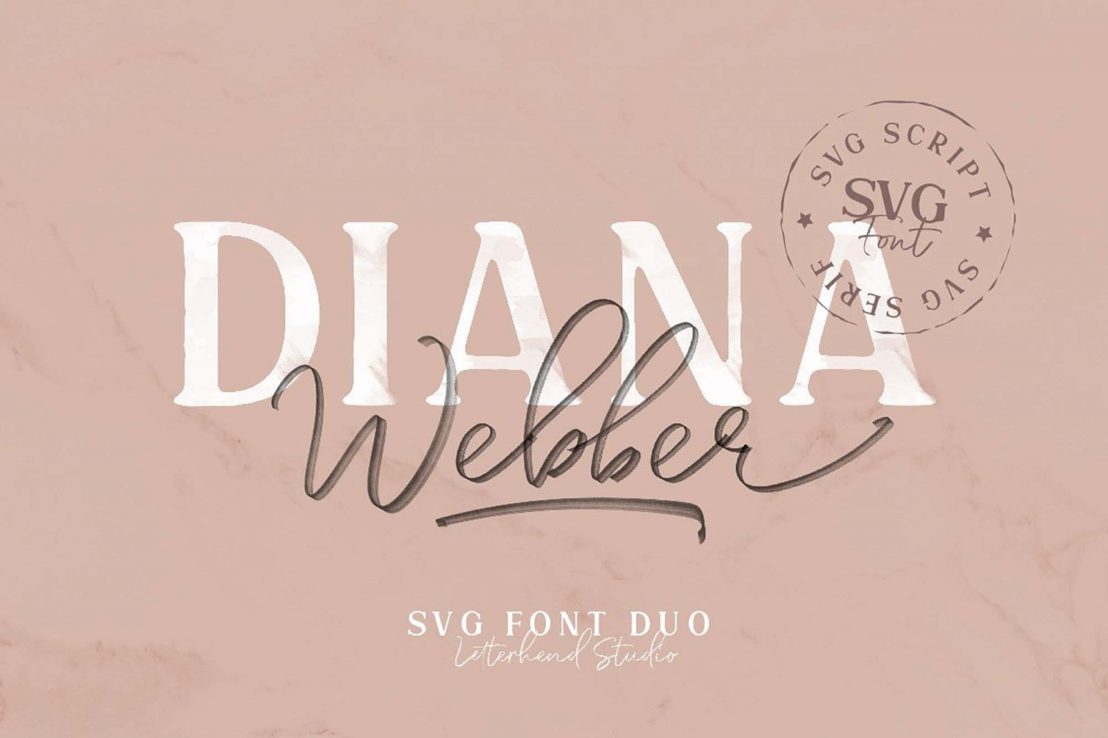 Free Diana Webber Font Duo (SVG)
