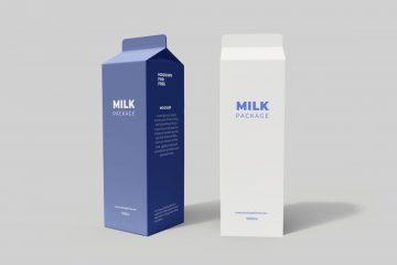 Free Milk Tetra Pack Mockup