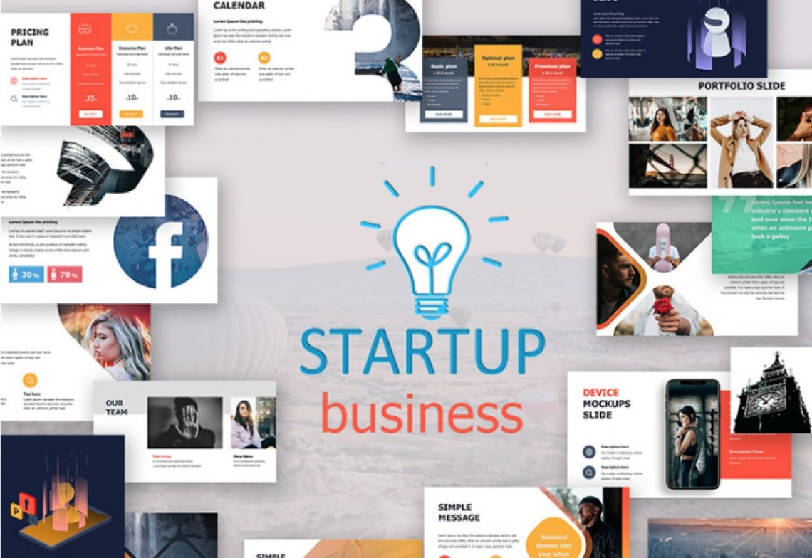 Free Start Up Business Presentation Template.
