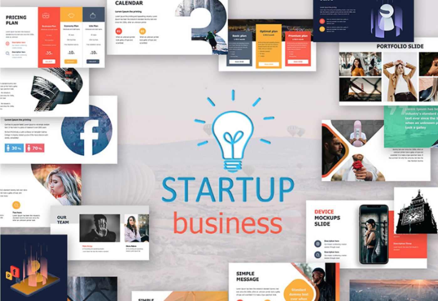 Free Start Up Business Presentation Template