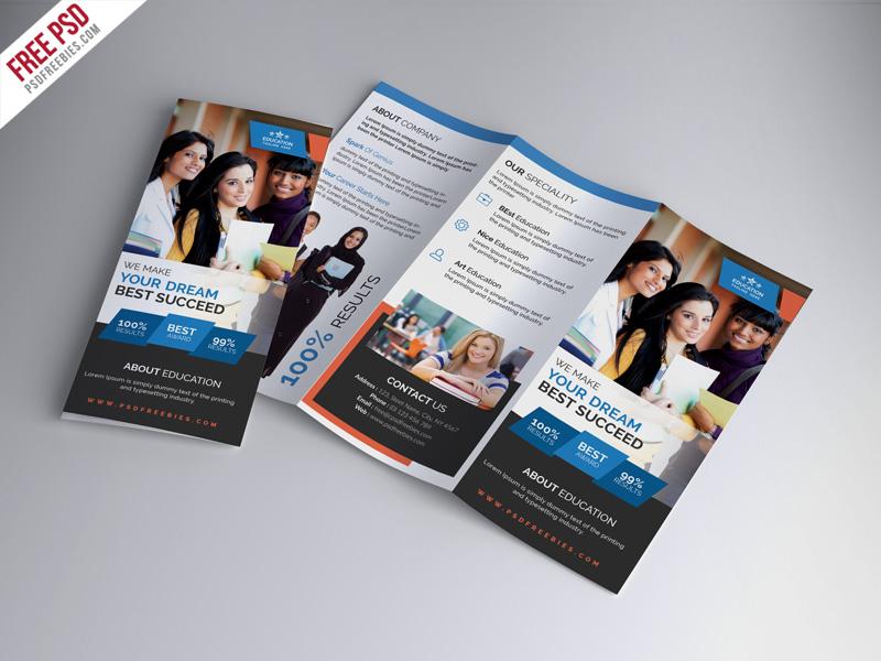 University Education Free Tri-fold Brochure