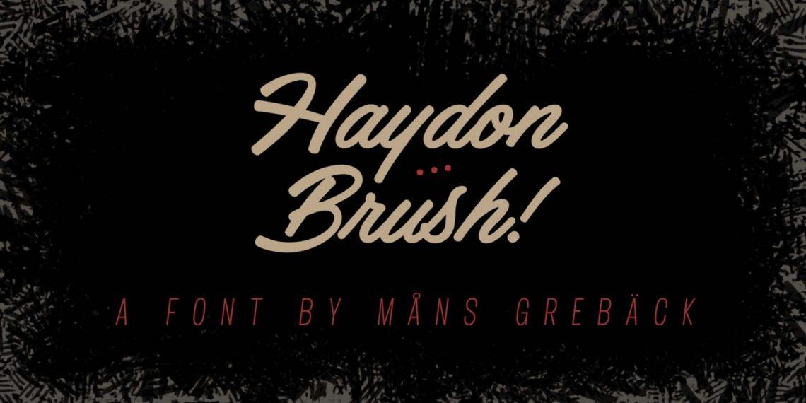 Free Haydon Brush Font.