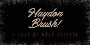 Free Haydon Brush Font