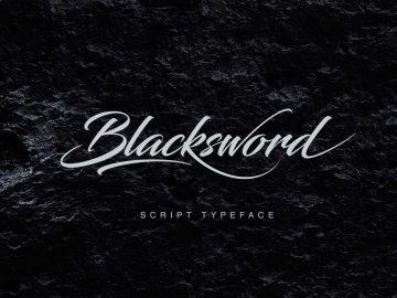 Free Blacksword Script Font