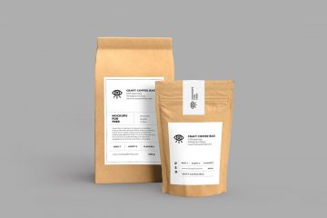 Free Craft Paper Bags Mockup