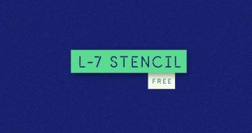 L7 Free Stencil Font