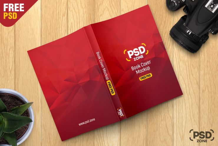 Free Book Cover Mockup PSD.