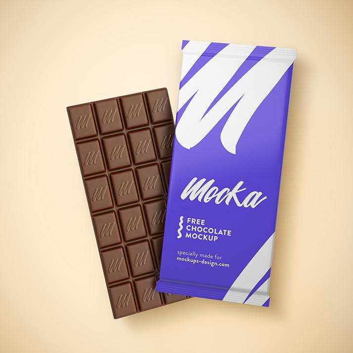 Free Chocolate Mockup.