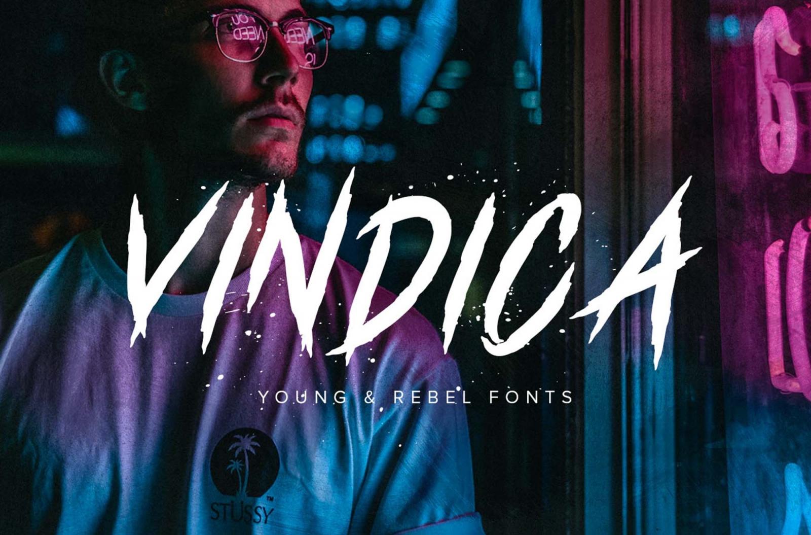 Vindica Rebel Free Typeface Font