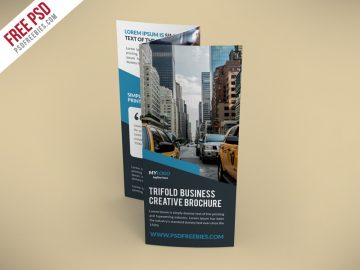 Creative TriFold Brochure - Free PSD Template