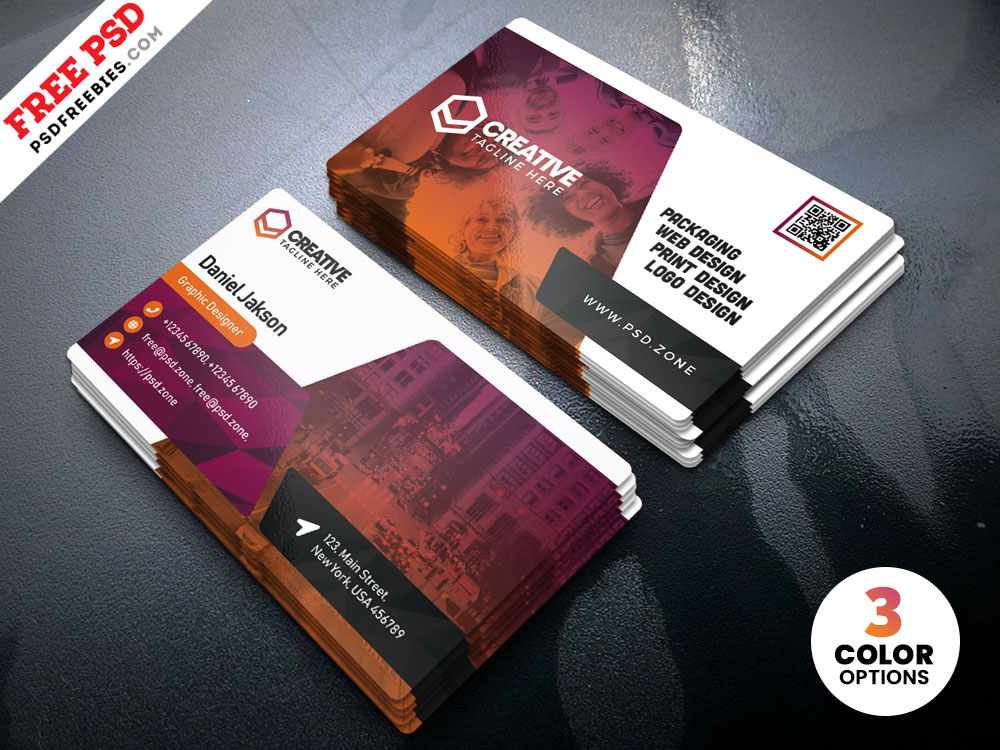 Free PSD Creative Business Card Templates.