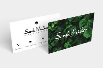 Botanical Free Business Card Template