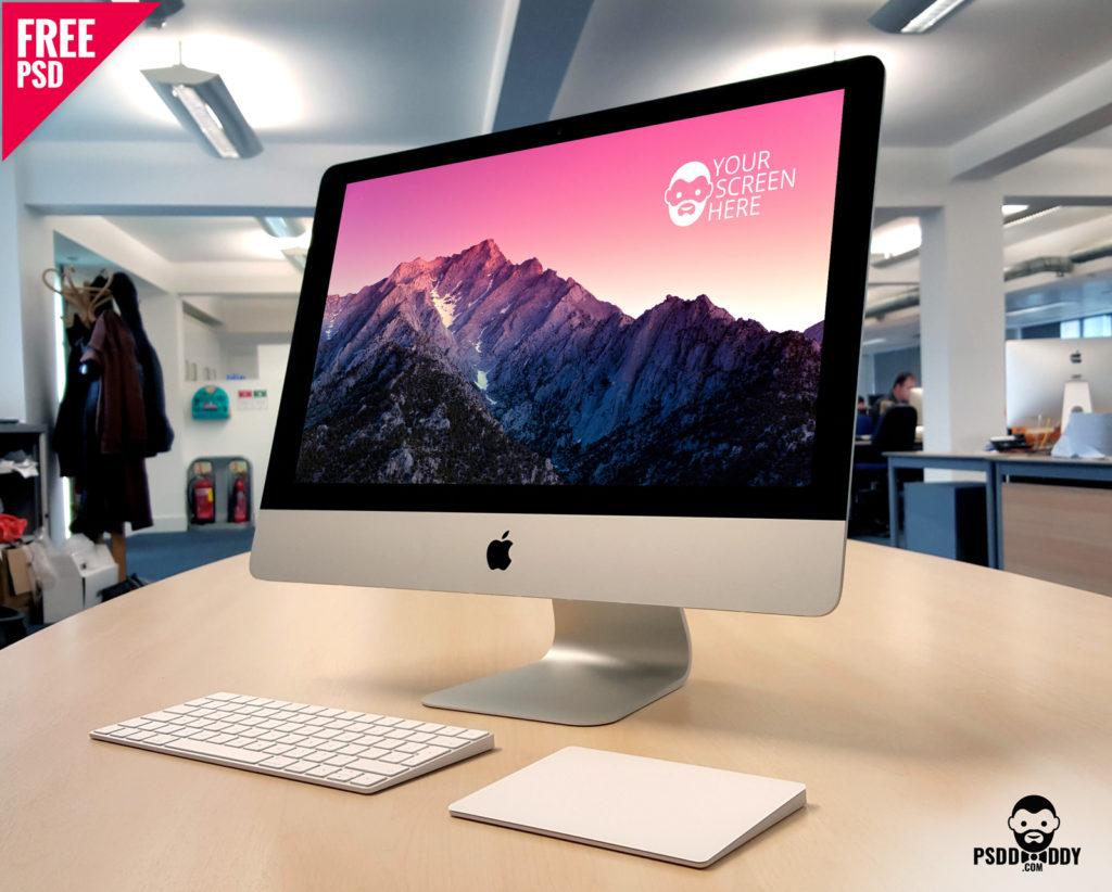 Free iMac Mockup PSD.