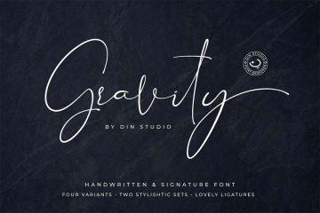 Gravity - Free Signature Font