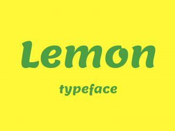 Lemon - Free Font