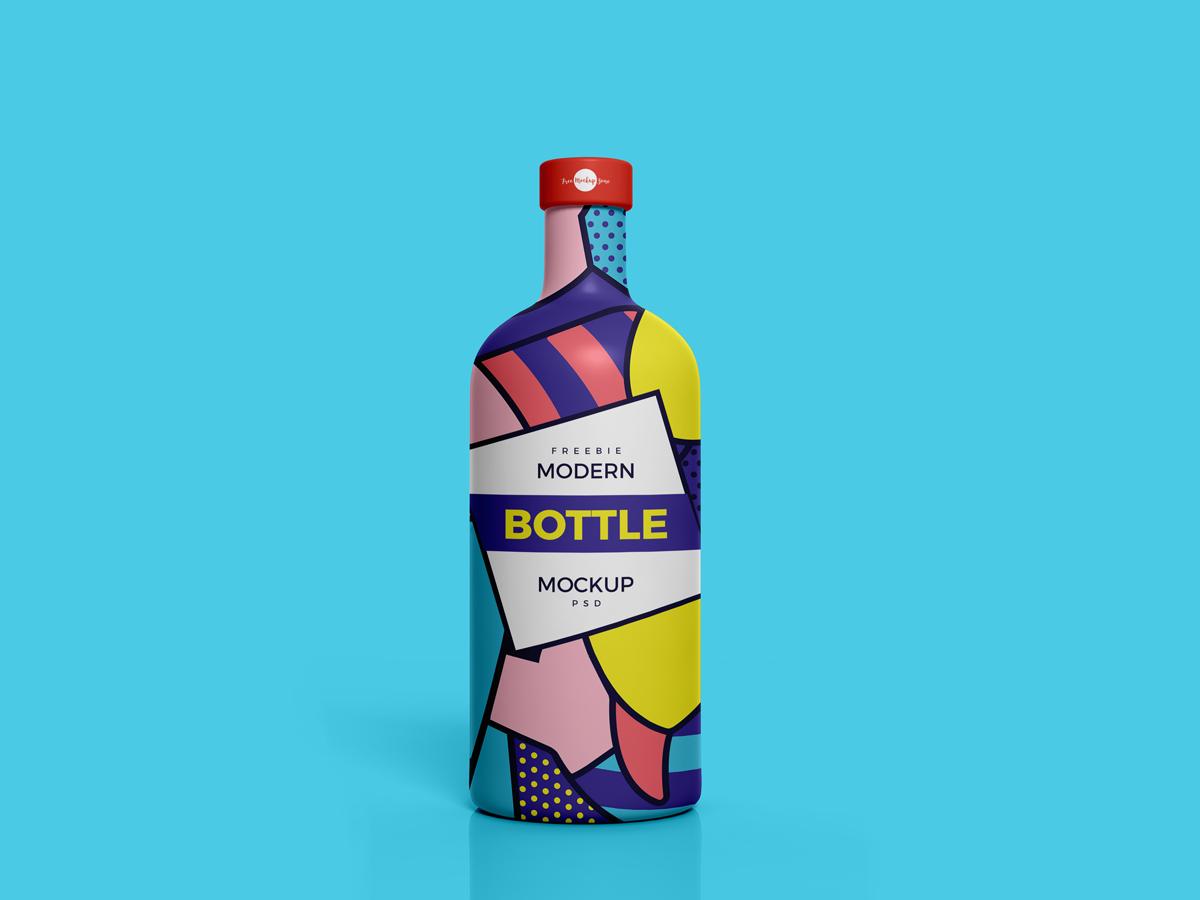 Free Modern Brand Bottle Mockup